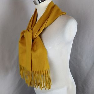 Christian Dior Cashmaire Acrylic Mustard Scarf